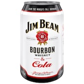 Jim Beam Bourbon Whiskey & Cola 10 % vol. 330 ml