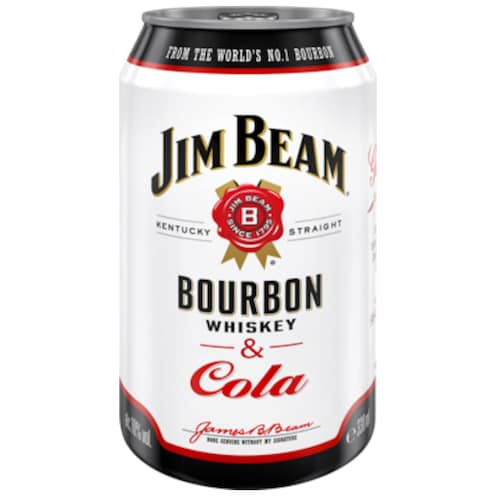 Jim Beam Bourbon Whiskey & Cola 10 % vol. 0,33 l