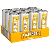 SMIRNOFF Vodka & Lemon 10 % vol. - Tray 12 x 0,25 l