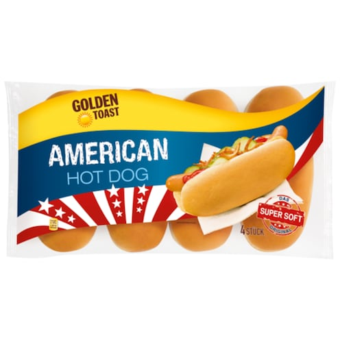 Golden Toast American Hot Dog 4 Stück