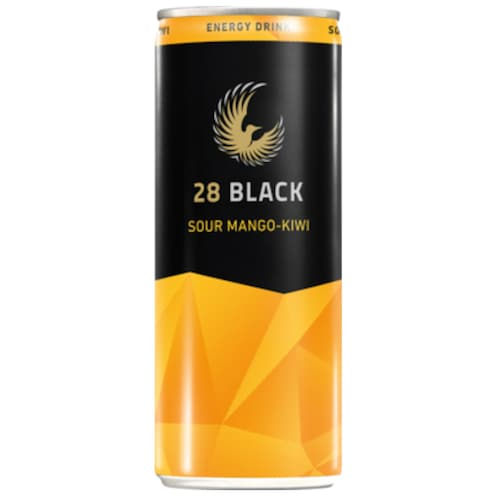 28 BLACK Sour Mango-Kiwi Energy Drink 0,25 l