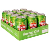 Havana Club Cane Sugar & Lime 10 % vol. - Tray 12 x 0,33 l