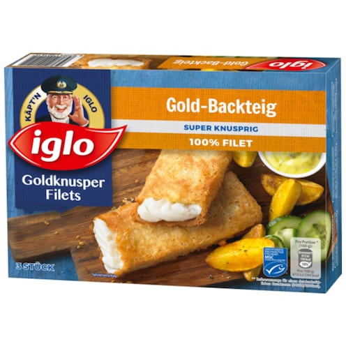 iglo Goldknusper-Filets Gold-Backteig 3 Stück