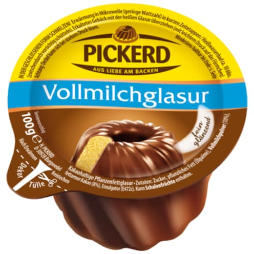 Pickerd Dekor-Glasur Vollmilch 100 g