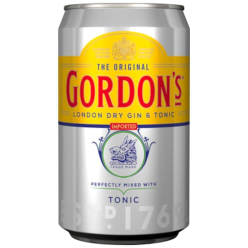 GORDON'S London Dry Gin & Tonic 10 % vol. 0,33 l