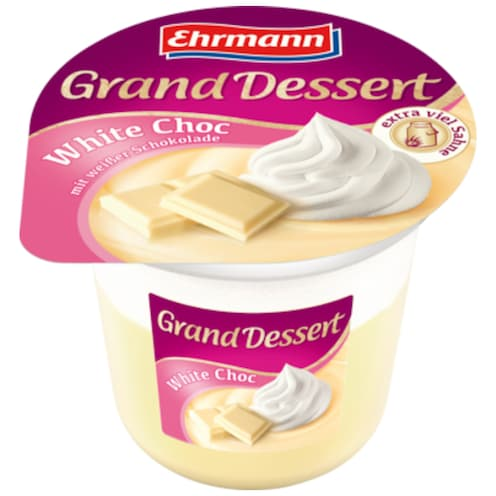 Ehrmann Grand Dessert White Choc 190 g