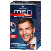 Schwarzkopf Men Perfect Anti-Grau-Tönungs-Gel 70 Natur Dunkelbraun 80 ml