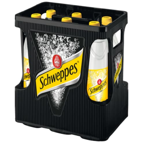 Schweppes Indian Tonic Water - Kiste 6 x 1 l
