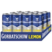 WODKA GORBATSCHOW Lemon 10 % vol. - Tray 12 x 0,33 l