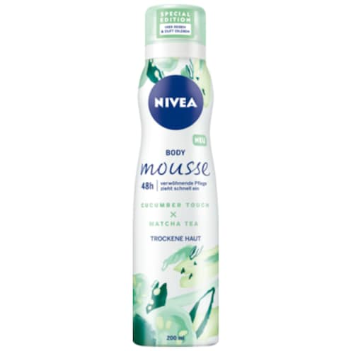 NIVEA Body Mousse Cucumber Touch x Matcha Tea 200 ml