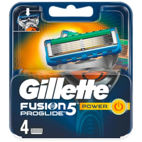 Gillette Fusion 5 Proglide Power 4 Klingen