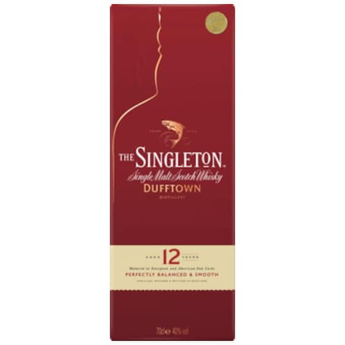 The Singleton Single Malt Sctoch Whisky of Dufftown 12 Years Old 40 % vol. 0,7 l