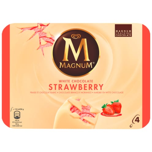 MAGNUM Strawberry & White 4 Stück