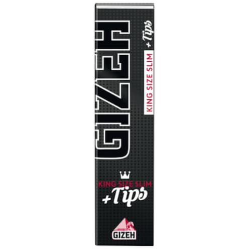 GIZEH Black King Size Slim + Tips 2 x 34 Stück