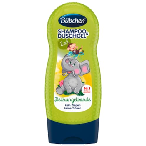 Bübchen Shampoo & Shower 2 in 1 Dschungelbande 230 ml