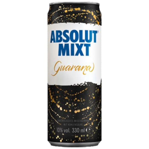 ABSOLUT Mixt Guarana 10 % vol. 0,33 l