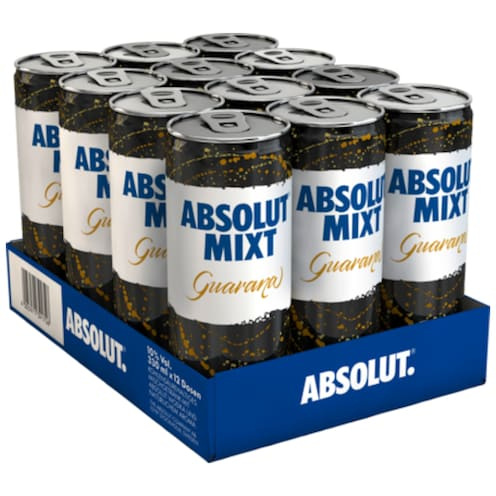 ABSOLUT Mixt Guarana - Tray 12 x 0,33 l