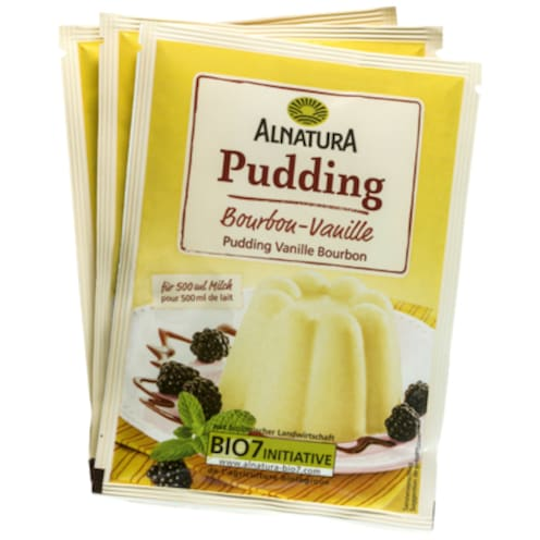 Alnatura Vanillepudding - 3-Pack 3 x 40 g