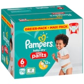 Pampers Baby Dry Extra Large Pants Gr.6 15+kg 70 Stück