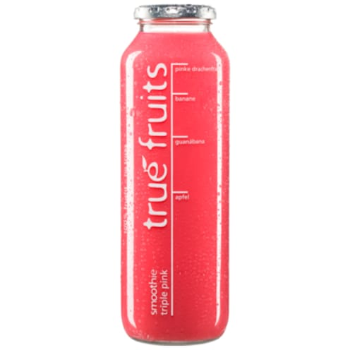 true fruits Triple Smoothie pink 750 ml