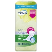 Tena Lady Discreet Normal 12 + 3 Einlagen