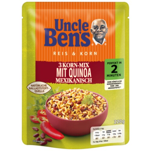 Uncle Ben's Express 3-Korn-Mix mit Quinoa Mexikanisch 220 g