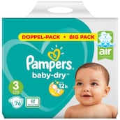 Pampers Baby Dry Midi Windeln Gr. 3 Doppelpack 2 x 38 Stück