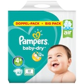Pampers Baby Dry Maxi Plus Windeln Gr. 4+ Doppelpack 2 x 31 Stück