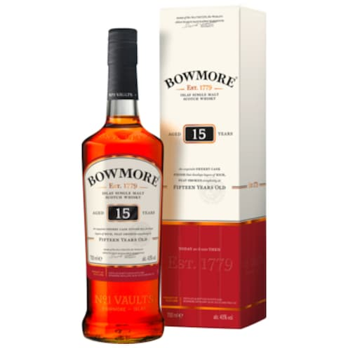BOWMORE 15 Years Old 43 % vol. 0,7 l