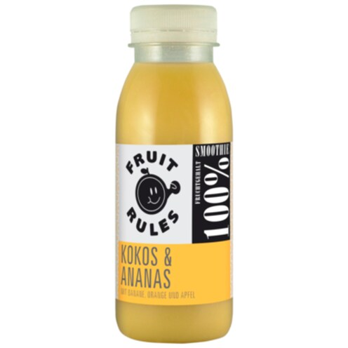 Fruit Rules Smoothie Kokos & Ananas 0,25 l