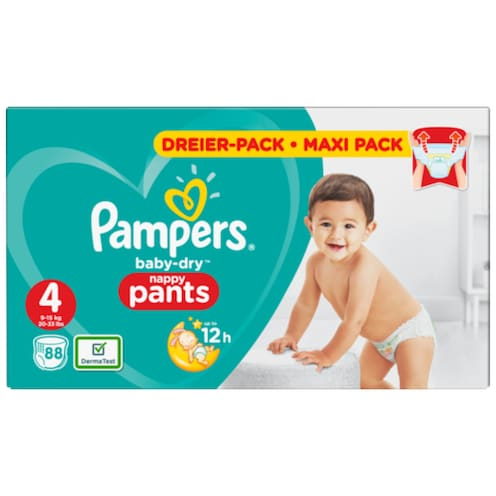Pampers Baby Dry Maxi Pants Gr.4 9-15kg 88 Stück