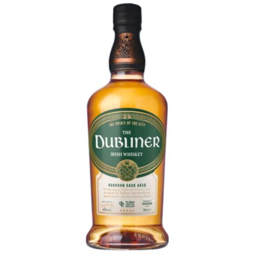 The Dubliner Bourbon Cask Aged 40 % vol. 0,7 l