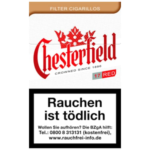 Chesterfield Original Kingsize Filter Zigarillos 17 Stück
