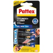 Pattex Ultra Gel Mini Trio 3 x 1 g