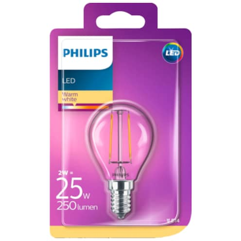 Philips LED Tropfenform 2 W (25 W), E14
