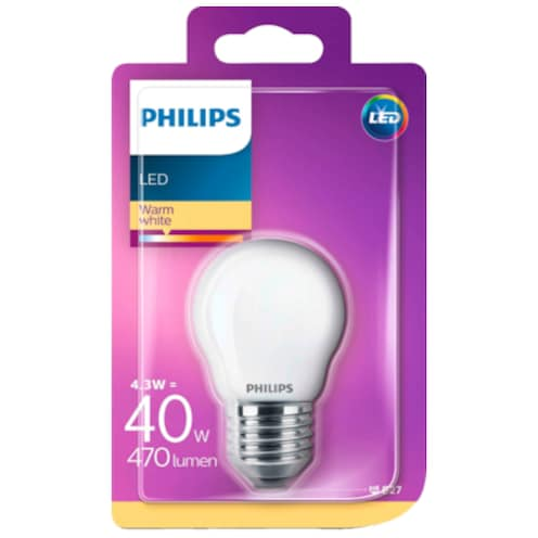 Philips LED Tropfenform 4,3 W (40 W), E27
