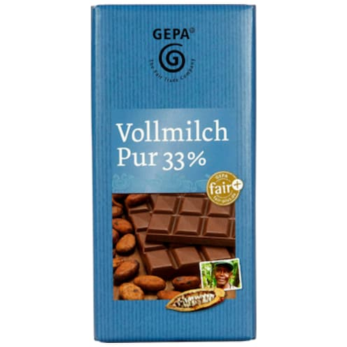 Gepa Vollmilch Pur 33 % 100 g
