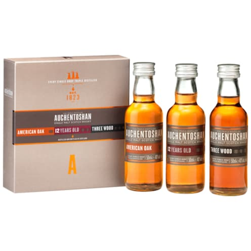 AUCHENTOSHAN Gift Collection American Oak/12Years/Three Wood 41 % vol. 1,5 l