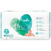 Pampers Pure Protection Newborn Windeln Gr.1 2-5kg Tragepack 35 Stück