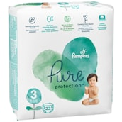 Pampers Pure Protection Midi Windeln Gr.3 6-10kg Tragepack 22 Stück