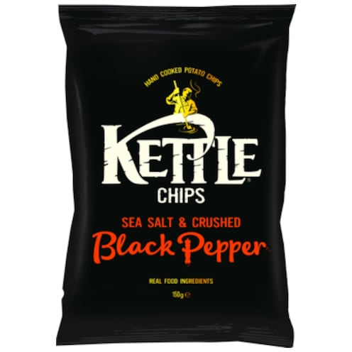 Kettle Chips Sea Salt & Crushed Black Pepper 150 g