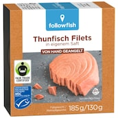 followfish Thunfischfilets in eigenem Saft 130 g