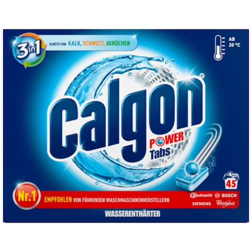 Calgon 3 in 1 Power Tabs 45 Tabs