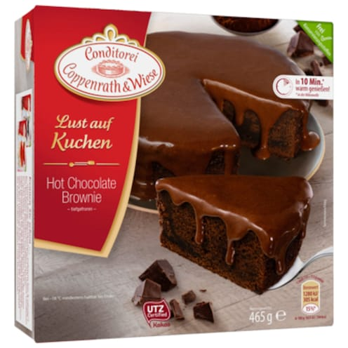 Conditorei Coppenrath & Wiese Lust auf Kuchen Hot Chocolate Brownie 465 g