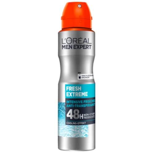 L'ORÉAL MEN EXPERT Fresh Extreme Intensive Frische Anti-Transpirant 48h Deospray 150 ml