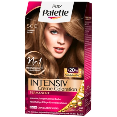 Poly Palette Intensiv Creme Coloration 500 Dunkelblond 115 ml