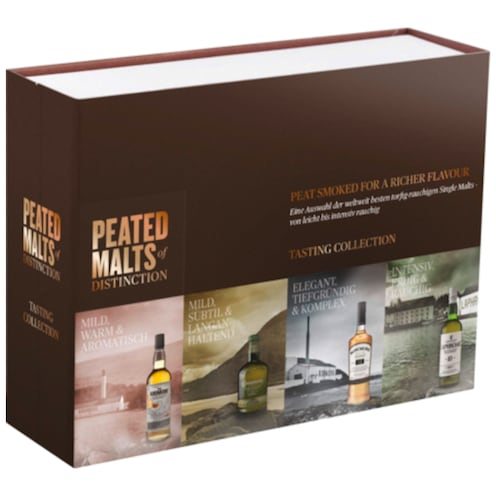 Peated Malts of Distinction Tasting Collection 40 % vol. 4 x 0,05 l