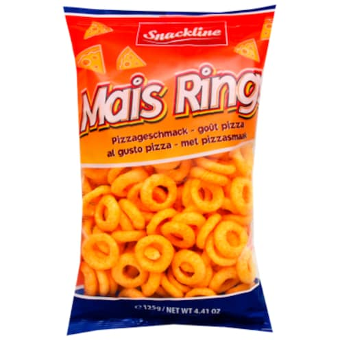 Snackline Mais Rings Pizza 125 g