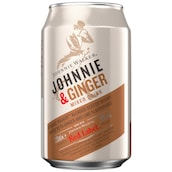 JOHNNIE WALKER Red Label & Ginger Ale 10 % vol. 0,33 l