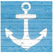 Paper + Design Servietten Anchor sign blue 3-lagig 20 Stück